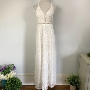 BHLDN Ostera White Lace Maxi Gown NWOT